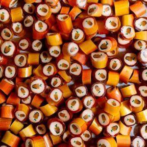 Caramelos artesanales de mango