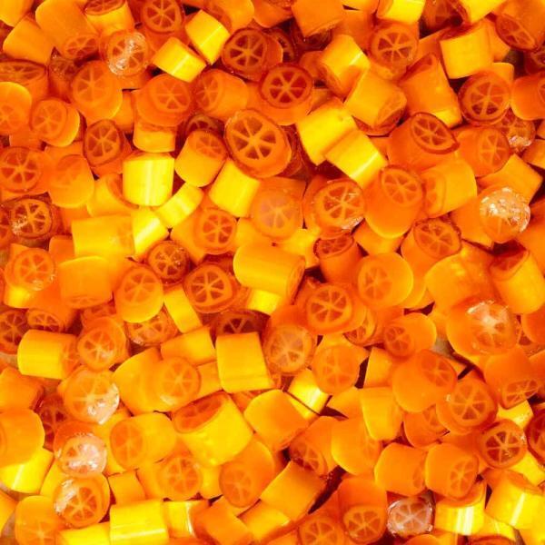 Caramelos artesanales de Naranja