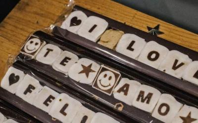 Serigrafía en chocolate